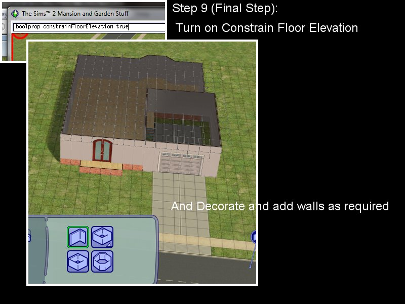 Sims 3 Constrain Floor Elevation Tutorial : How to add a garage house with foundation leefish